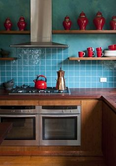 Bamboo cabinetry #sustainable bamboo   Eclectic Kitchen by Camilla Molders