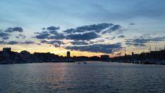 France. Marseille. Vieux-Port. Soir d'hiver