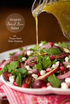 arugula pomegranate and pear salad arugula pear and pom salad a ...