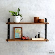 Floating Shelves, House, Metal, Room, Home Decor, Industrial Style, Shelving Brackets, Bedroom, Decoration Home