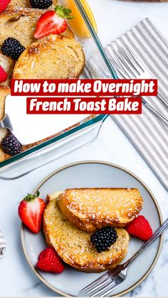 Budget Recipes, Budget Meals, Cooking Recipes, Overnight French Toast, French Toast Bake, Breakfast Meals, Breakfast Casserole, Appetizer Recipes, Dessert Recipes