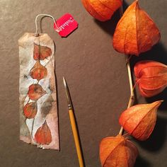 363 days of tea. Day 344. #driedchineselanterns #recycled #teabag #art…