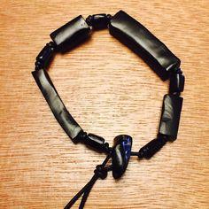 Vintage Azabache black coral bracelet amulet SOLD Azabache amulet. Adjustable Handcrafted genuine black coral bracelet AmphorasEyes Jewelry