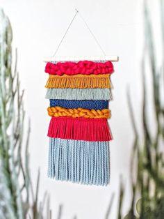 Loom Weaving, Tapestry Weaving, Tapestry Wall Hanging, Wall Hangings, Weaving Wall Hanging, Hanging Wall Art, Large Tapestries, Rainbow Decorations, Diamond Pattern