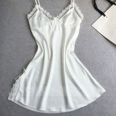 plus nightgown on sale at reasonable prices, buy Women Night Gown Sexy Lace Women Nightgowns Lace Plus Size Princess Sleep Wear For Women Night Dress Sleepwear Robe De Nuit from mobile site on Aliexpress Now! Cute Sleepwear, Silk Sleepwear, Sleepwear Women, Lingerie Sleepwear, Nightwear, Loungewear, Girls Night Dress, Night Gown, Girl Night