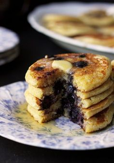 Cornmeal & Greek Yoghurt Pancakes | The Sugar Hit!