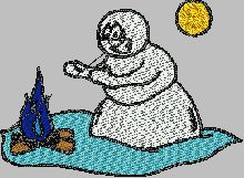 Cold Snowman free embroidery downloads win a xbox 360 every 10 minutes