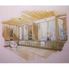 Fast coloring #handrendering #interior#interiordesign#design#rendering #drawing #painting#ink#inkcolor#rice#perspective