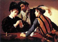 Caravaggio, I bari, 1595 ca. Olio su tela, 91,5 x 128,2 cm. Fort Worth, Kimbell Art Museum.