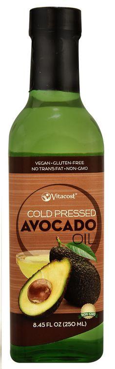 Vitacost Cold Pressed Avocado Oil - Non-GMO and Gluten Free -- 8.45 fl oz (250 mL)