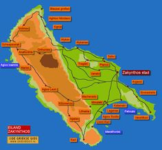 Travel Maps, Beautiful Islands, Travel Around, Zakynthos, Greece, Tips, Travel, Greece Country, Counseling