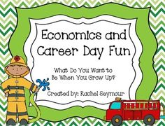 "This is a fun 40 page economics unit about careers!  Posters, activities, research project, and a fun book trade are all included!  I created this standards based economics unit to learn about careers because throughout the year my kiddos share what they want to be when they grow up when they are the ""Star of the Week""."