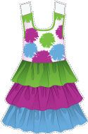 #Dress with triple-colored #skirt