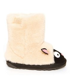 Another great find on #zulily! Natural & Black Suede Little Creatures Lamb Boot – Kids #zulilyfinds