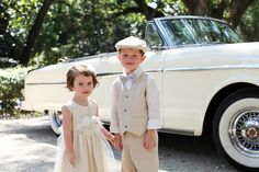 the cutest flower girl and ring bearer ever