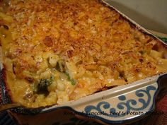 Make Ahead Recipe:  Roasted Broccoli, Cheese and Potato Hotdish