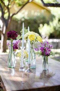Floral Design #flowers #tablescape @Madera Furniture | California table @Silvana Di Franco Photography