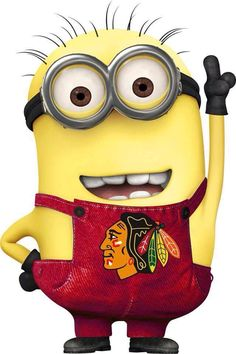 I always knew minions were Chicago Blackhawk fans! Blackhawks Hockey, Hockey Teams, Chicago Blackhawks, Hockey Players, Chicago Bears, Hockey Stuff, Sports Teams, Hockey Room, Hockey Baby