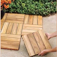 I really want to install these over our ugly concrete patio!