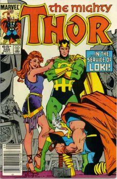 Thor 359 - Loki - Asgard - Marvel - Woman - Norse - Walter Simonson