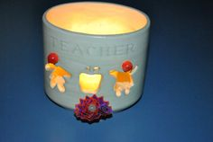 Candle HolderPen HolderFor TeacherUp Cycled by GinasCornerCrafts