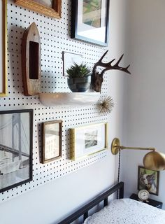 My husband is an organizational freak so you can only imagine how the inside of our, I mean his, tool shed might look like. Let's just say he's a huge fan of pegboards and walls of his man cave look more immaculate than any aisle of a hardware store. I've always viewed pegboards as a purely