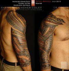 Fijian Sleeve Tatoo - Pinned from: Tatau of the Month FB Page