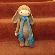 RITA the rabbit made by Helen R. / crochet pattern by lalylala