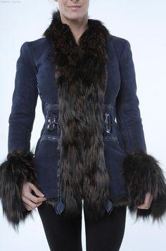 Roberto Cavalli - RUNWAY Denim Fox Fur Jacket