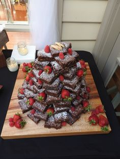 wedding brownie tower                                                                                                                                                                                 More