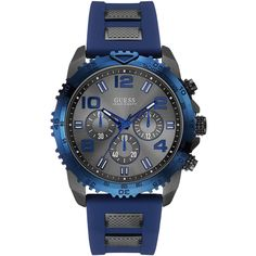 Buy this Men's Guess from Guess. We are official dealer of Guess watches, which is your guarantee that this particular men's watch is genuine. Stainless Steel Bracelet, Stainless Steel Case, Cool Watches, Watches For Men, Guess Watches, Men's Watches, Atm, Swiss Automatic Watches, Rubber Bracelets