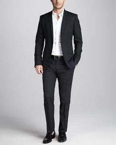 Dolce & Gabbana Martini Stretch-Wool Suit, Black on shopstyle.com
