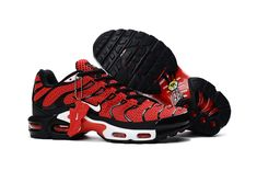 13d6f7aa50e5c Nike Air Max Plus TXT TN KPU Black Red Men Sneakers Running Trainers Shoes  604133-101