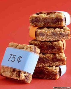 [ Oatmeal Bars ]  chocolate, caramel, oatmeal squares ... {marthastewart.com}