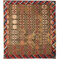 Antique Art Deco Needlepoint English Rug or Carpet | From a unique collection of antique and modern western european rugs at https://www.1stdibs.com/furniture/rugs-carpets/western-european-rugs/