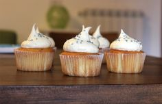 Vanilla cupcakes Vanilla Cupcakes, Mini Cupcakes, Rome, Desserts, Tailgate Desserts, Deserts, Postres, Dessert, Plated Desserts