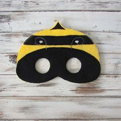 Bumble Bee Mask Felt Kids Mask Costume Dress by AnnsCraftHouse