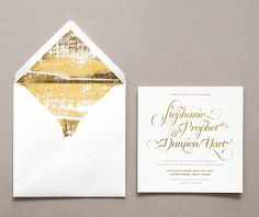 15 Super Chic Minimalist Wedding Invites | Brit + Co