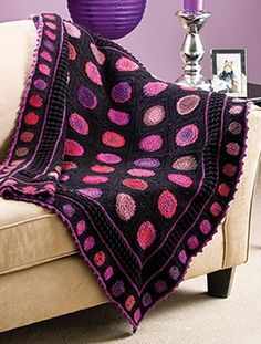 Tiddlewinks Throw, part of Crochet!'s FREE Pattern of the Month. Get the download here: http://www.crochetmagazine.com/monthly_project.php?series_id=4&source=fcebkcc