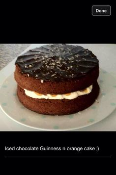 Guinness  chocolate orange cake