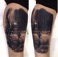 Precious! Tattoo by Dan Banas. #inked #inkedmag #tattoo #realism #beauty #kid #children #portrait