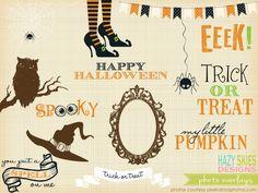 Halloween Photo Overlays  by Hazy Skies Designs