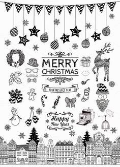 Check out Christmas Doodle Icons by Olka on Creative Market