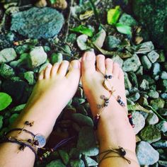 Earth Mother Brown Tribal Gypsy shoes/Barefoot sandals - Made using recycled materials <3