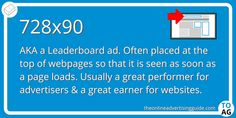 The banner ad unit is an IAB standard ad unit also known as is known as a Leaderboard Banner, Super Banner or just a Leaderboard. Advertising Space, Display Advertising, Video Advertising, Online Advertising, Marketing Definition, Z Index, Definitions, Digital Marketing