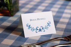 Custom designed place cards #TheCharmStudio