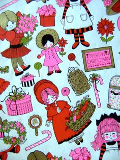 Vintage Gift Wrap Pink Christmas, Christmas Images, Christmas Goodies, Christmas Cards, Vintage Christmas Wrapping Paper, Christmas Gift Wrapping, Gift Wrapping Paper, Vintage Gifts, Vintage Cards