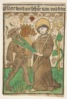 St. Bernard Vanquishing the Devil, German, 15th century, Metropolitan Museum of Art collection