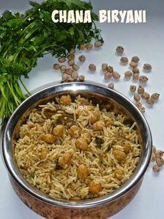 கொண்டைக்கடலை(சன்னா) பிரியாணி / CHANA BIRYANI   BIRYANI RECIPES