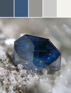 Blue & Silver~ palette designed By Ange Gaffke via Stylyze